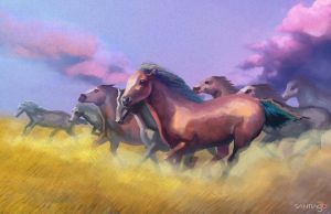 Horses by Pertheseus