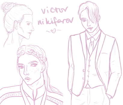 yoi: victor nikiforov sketch sheet by bellequine
