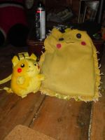 Two Pikachu bags now C: by KellyBearr