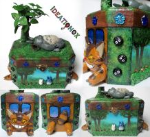 Sleepy Totoro and Friends Decor Box by Ideationox