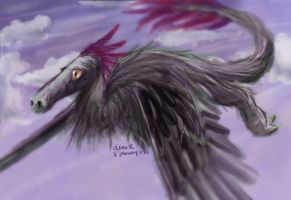 Feather-Dragon by denn