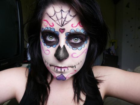 Sugar Skull 02 by a-zombified-chimera