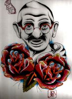 Ghandi by originalberlinwall