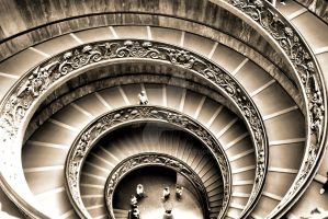 Vatican Museum staircase by mwilczek