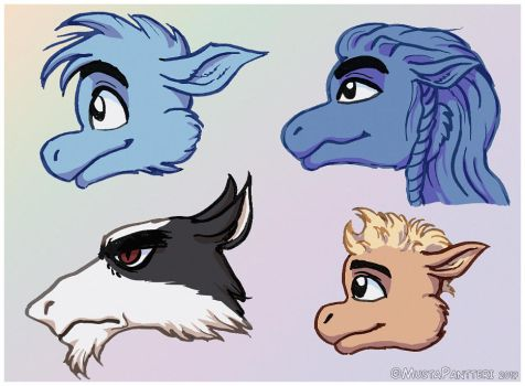 Different Character Head Shapes by MustaPantteri