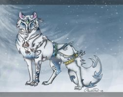 Wolf spirit of Ice by SS-Chan