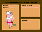 Poke Fusion Adventure NPC Roxy the Flaaffy by Cocoafox895