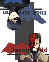 Redhood and Nightwing by ichiless
