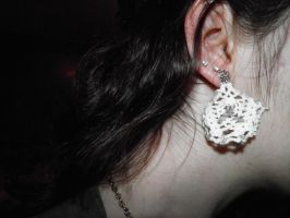 Doily Earrings by DefyingIndecision