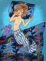 Sleeping with the fishes by Kumoashi