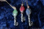Polymer Clay Key Pendants by plasterfish