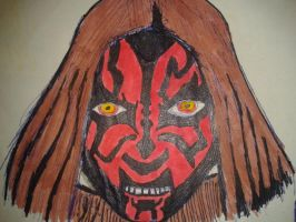 Darth Maul disguised as a Jedi by WillOTheWhisp