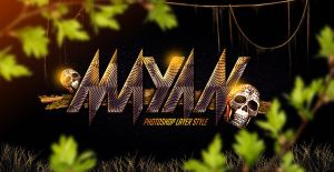 Mayan Photoshop Layer Style by Industrykidz