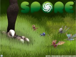 Spore - Oh no by TeSiamese