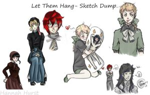 Let Them Hang: Sketch Dump 1 by ArTLoVer4LiFe