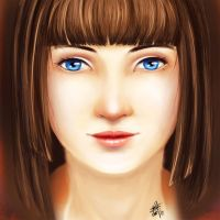 Potrait of a girl by Scorptique