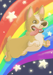 Doggy Over The Rainbow by Hugna
