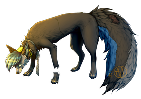 Cannibal-Canis fullbody commish by Minteen