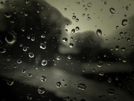Waterdrops and dirty window by ervin21
