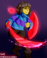 Glitchtale Frisk! Collab with RandomColorNice by CamilaAnims