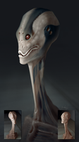 Alien Concept Sculpting Test I by Grivetart