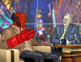 Hellboy talkshow by rawddesign