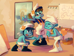 Smurfs: Delivery, Cheat Code, and Tailor by student-yuuto