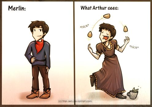How Arthur sees Merlin by Star-Jem