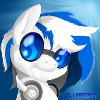 Commission - DJ Brony Avatar/Icon by AC-whiteraven