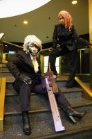 Raiden and Mistral Business Attire in NY by ProVoltageCosplay