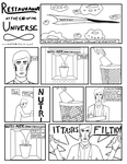 Restaraunt at the End of the Universe Comic page I by DandymanKAL