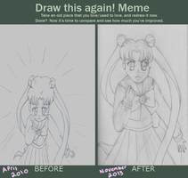 Draw This Again: Sailor Moon- The very first time by TMNTISLOVE