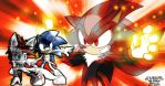 Almiras and Sonic VS Shadow by Tigerfog
