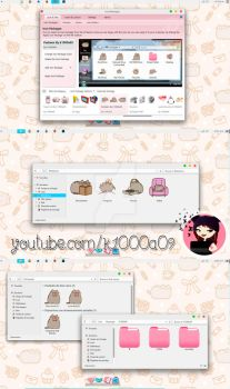 Pusheen Theme Iconpackager by k1000adesign
