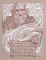 George R.R. Martin - Winter is Coming by DonatoArts