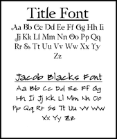 Fonts used in Twilight 2 by EsmeCullen