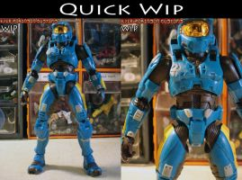 Custom Master Chief  quick WIP by KyleRobinsonCustoms