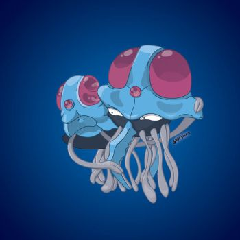 Day 26: Tentacool and Tentacruel by Otterpawps