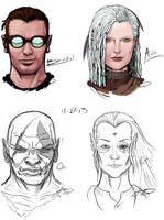 DnD Characters by SHARK-E