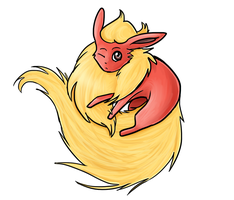 Flareon doodle by Aluri