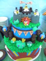 Angry Birds Cake by Afina79