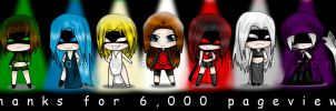 Chibi thanks for 6,000 by melina678