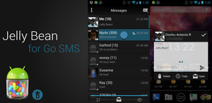 Jelly Bean Go SMS Theme by kingdonnaz