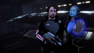 Shepard, Samara, some biotics, and the Normandy by Nerdpowers