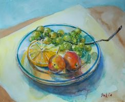 plate with fruits by DariaGALLERY