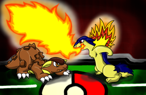 Typhlosion Used Flamethrower by KoopaKrazy85