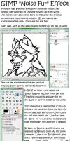 GIMP Noise Fur Effect Tutorial by anthro-tuts