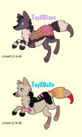 2 Pups to ~NightmareAdoptables by MichelsAdoptions