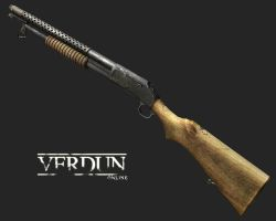 m1890 Trench gun - Low-poly 3D by VampireMF
