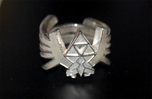 Zelda Triforce Ring Silver by knil-maloon
